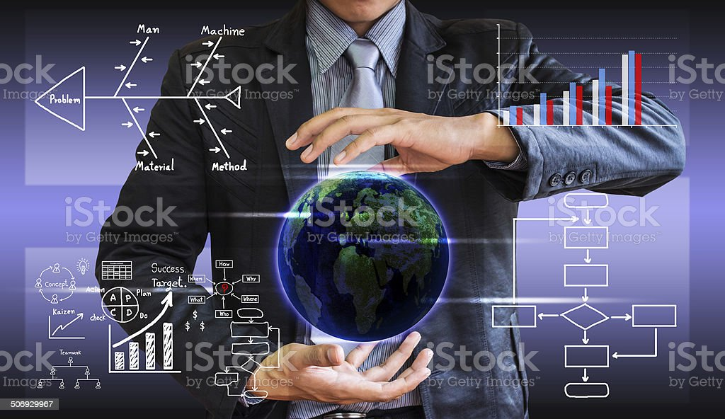 business man writing concept stock photo