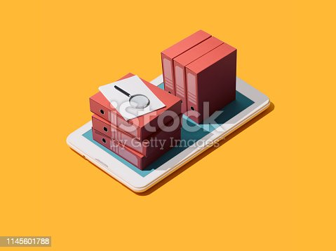 istock Business management and database searching 1145601788