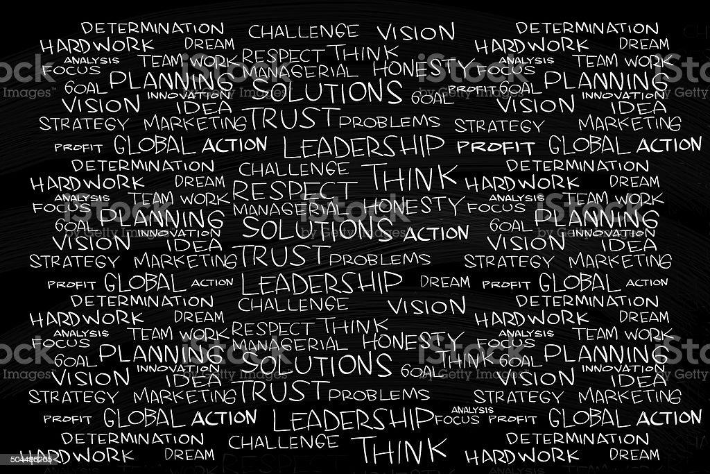 Business Management Cloud Words stock photo
