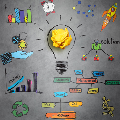 New business idea with effective planning, growth and management concept