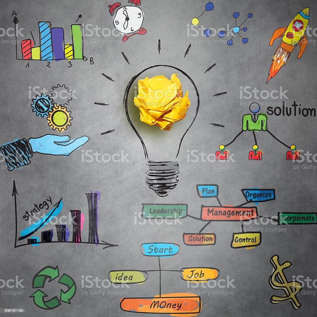 Business management concept stock photo