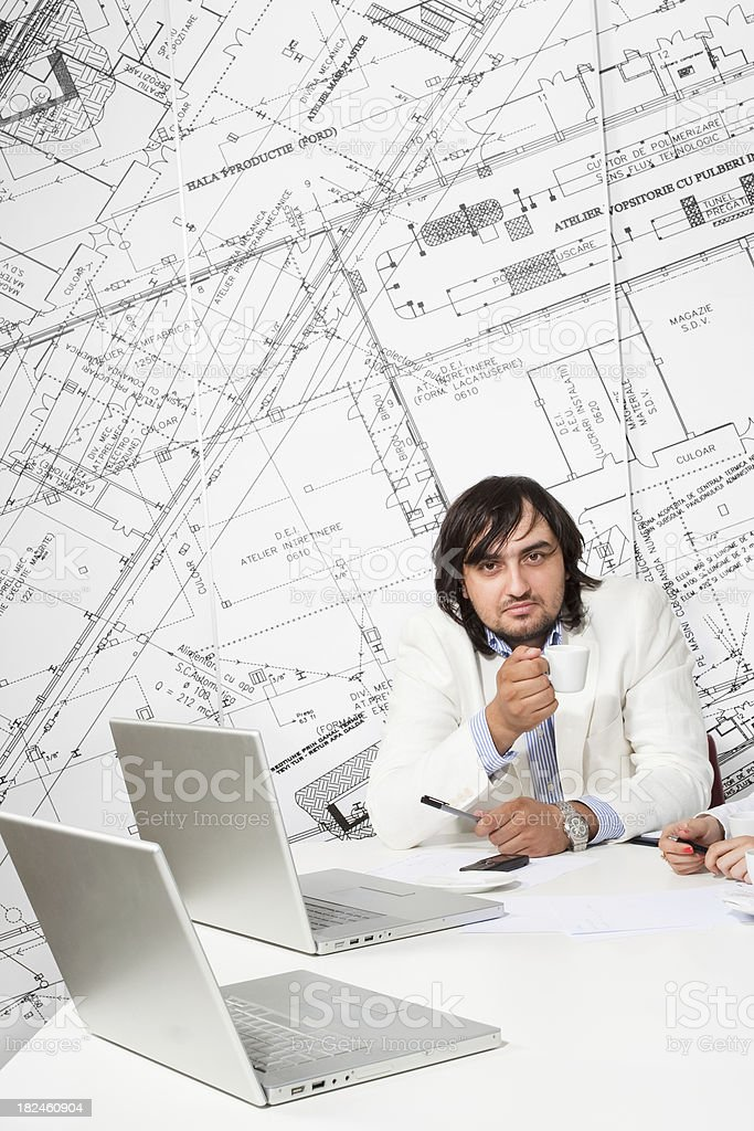 Business manager at work royalty-free stock photo
