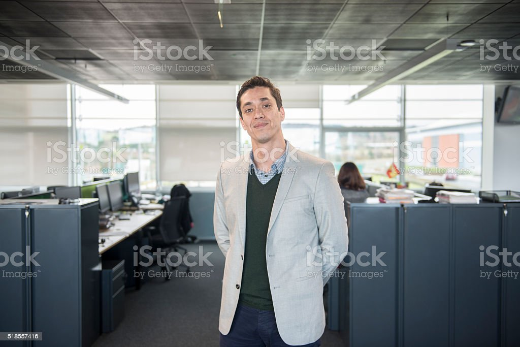 Business manager in office stock photo
