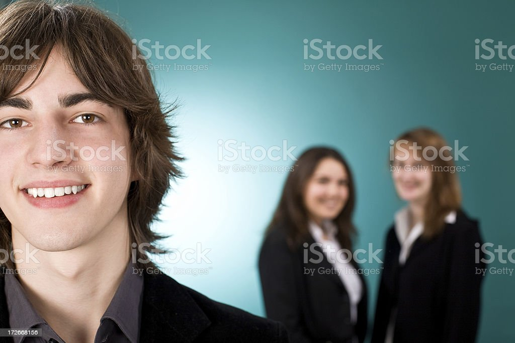 business manager leadership with female team royalty-free stock photo