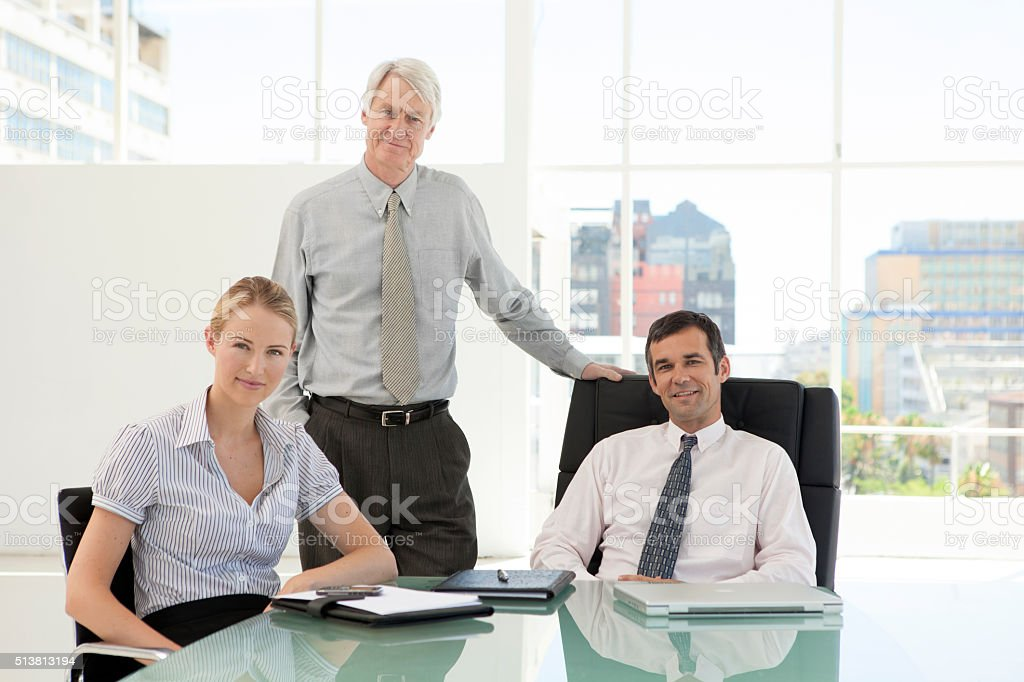 Business managers team stock photo