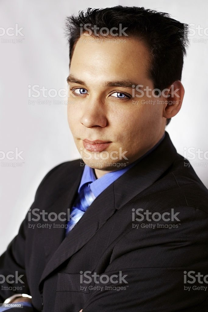 Business manlooking strong royalty-free stock photo