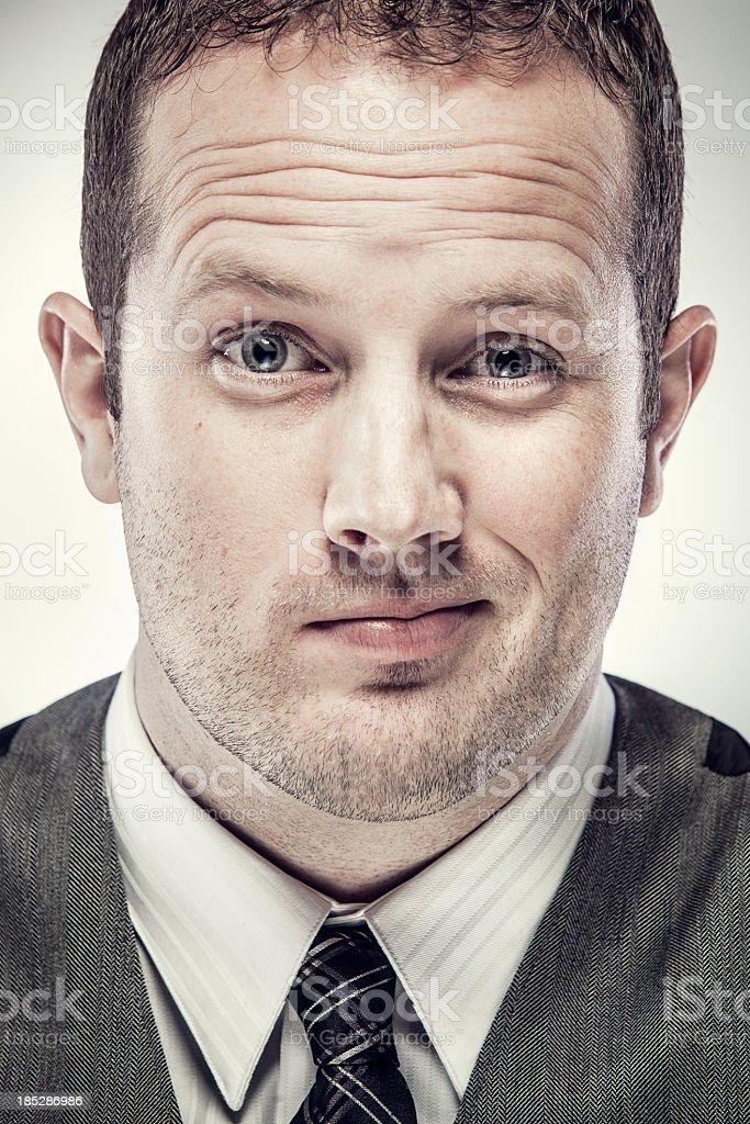 Business Mans Face Closeup stock photo