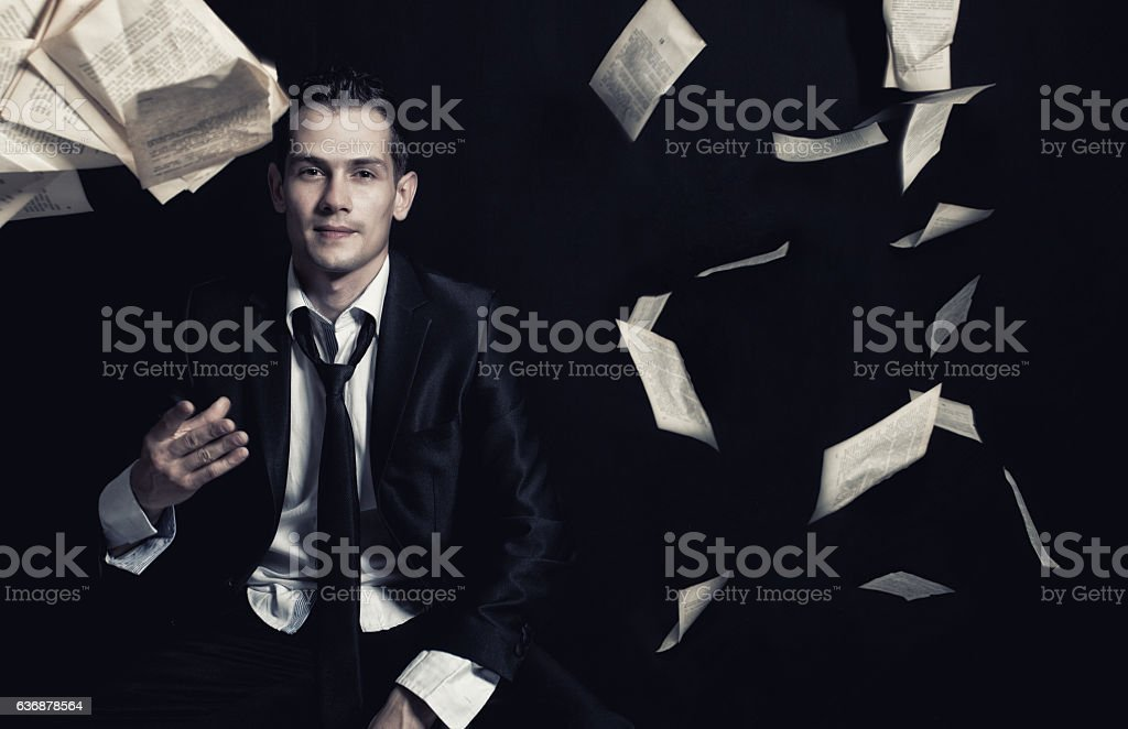 Business man-Writer stock photo