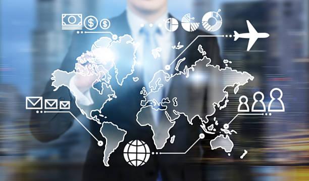 business map - 虛擬辦公室 個照片及圖片檔
