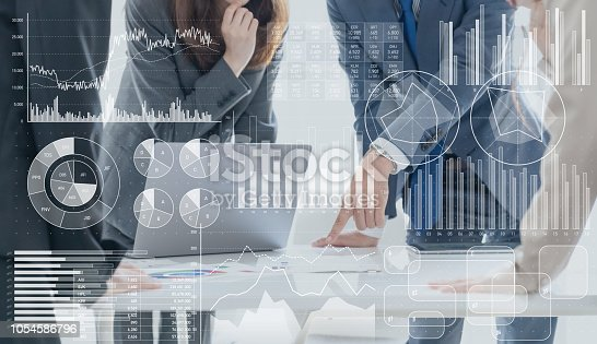 istock Business marketing concept. 1054586796