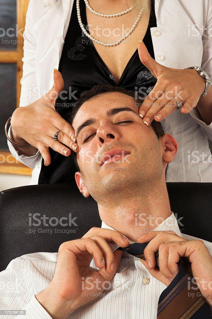 Business massage royalty-free stock photo
