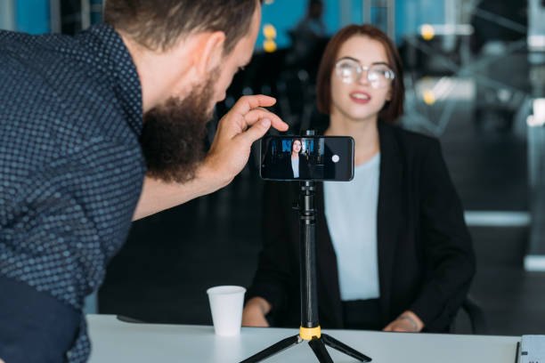 business master class woman coach video shooting - filming stock pictures, royalty-free photos & images