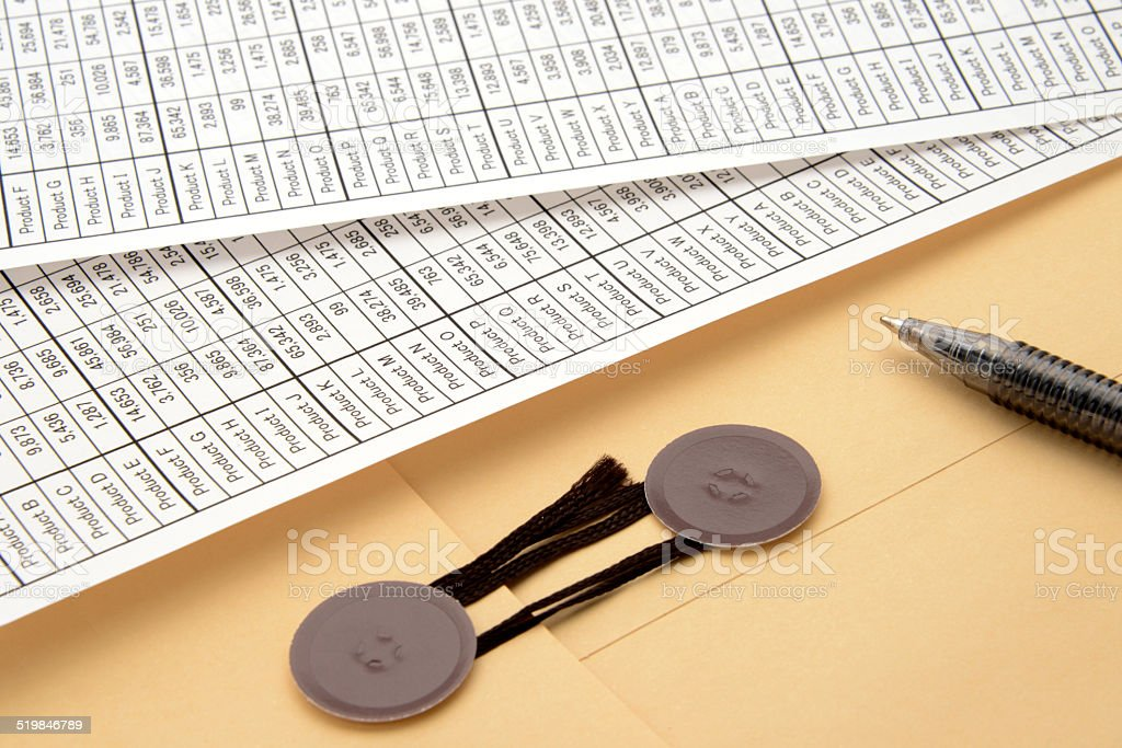 Business materials for sending stock photo
