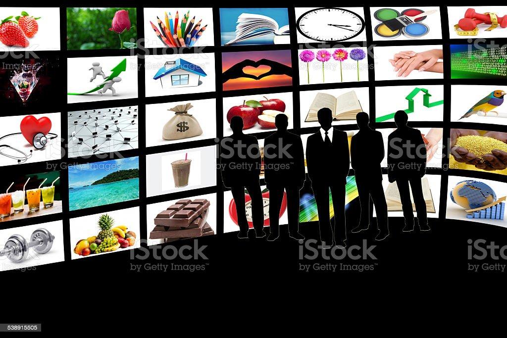 Business media life stock photo