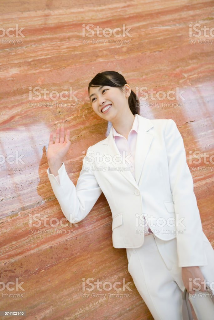 Business meeting a colleague come royalty-free stock photo