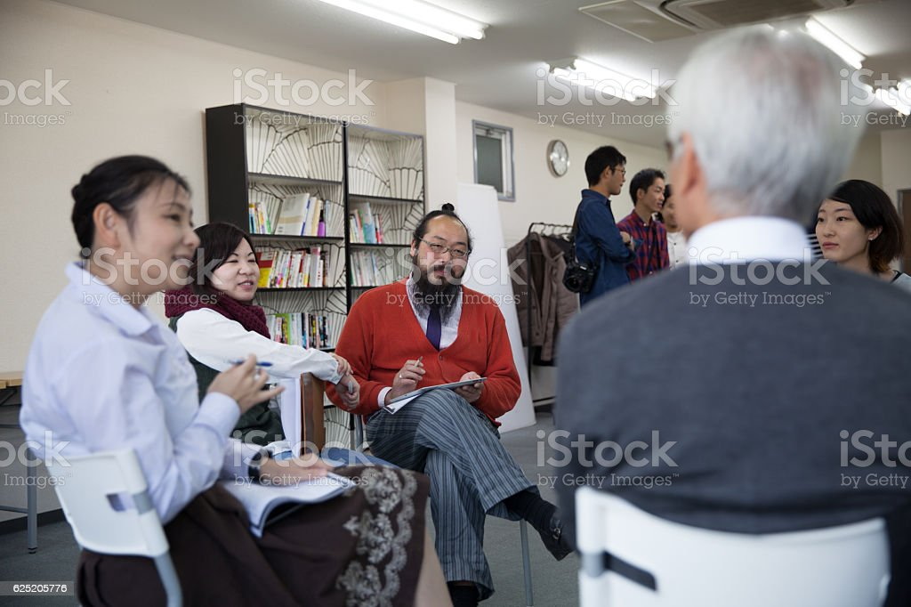 Business Meeting / after work class for adult stock photo