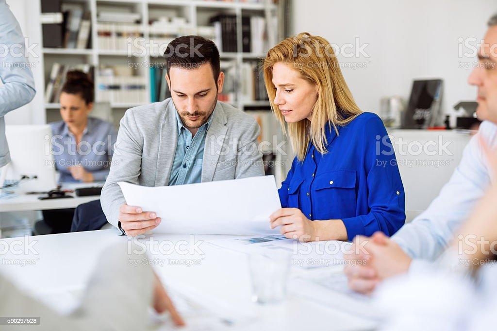Business meeting and brainstorming royaltyfri bildbanksbilder