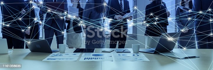 istock Business meeting and communication network concept. 1161358635