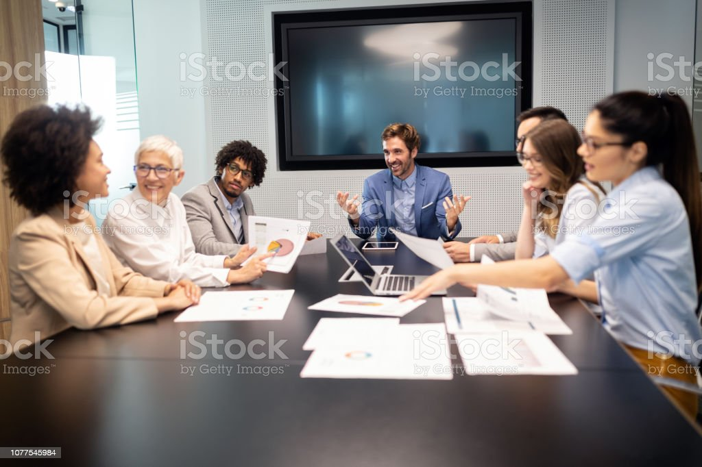 Business meeting and teamwork by business people Business meeting and teamwork in office by business people Adult Stock Photo