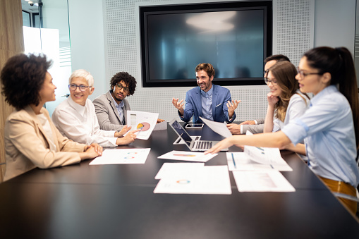 Business Meeting And Teamwork By Business People Stock Photo - Download Image Now