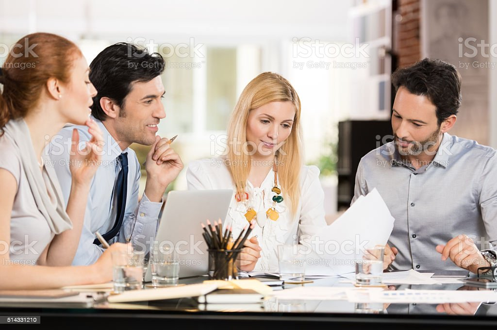 Business meeting at office stock photo