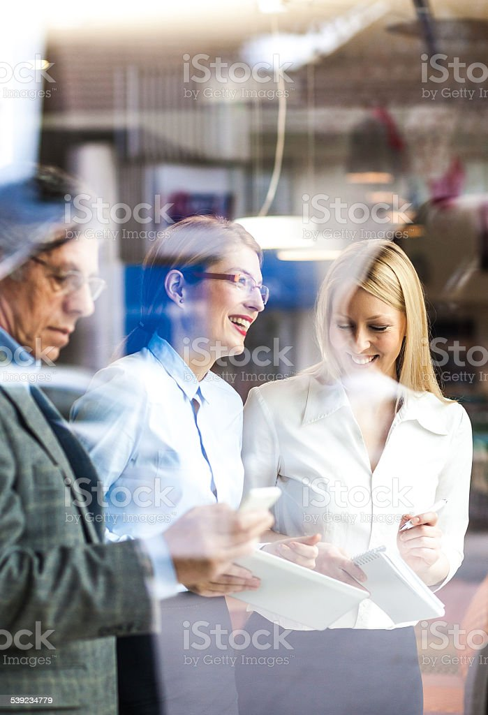 Business meeting at the coffee bar royalty-free stock photo