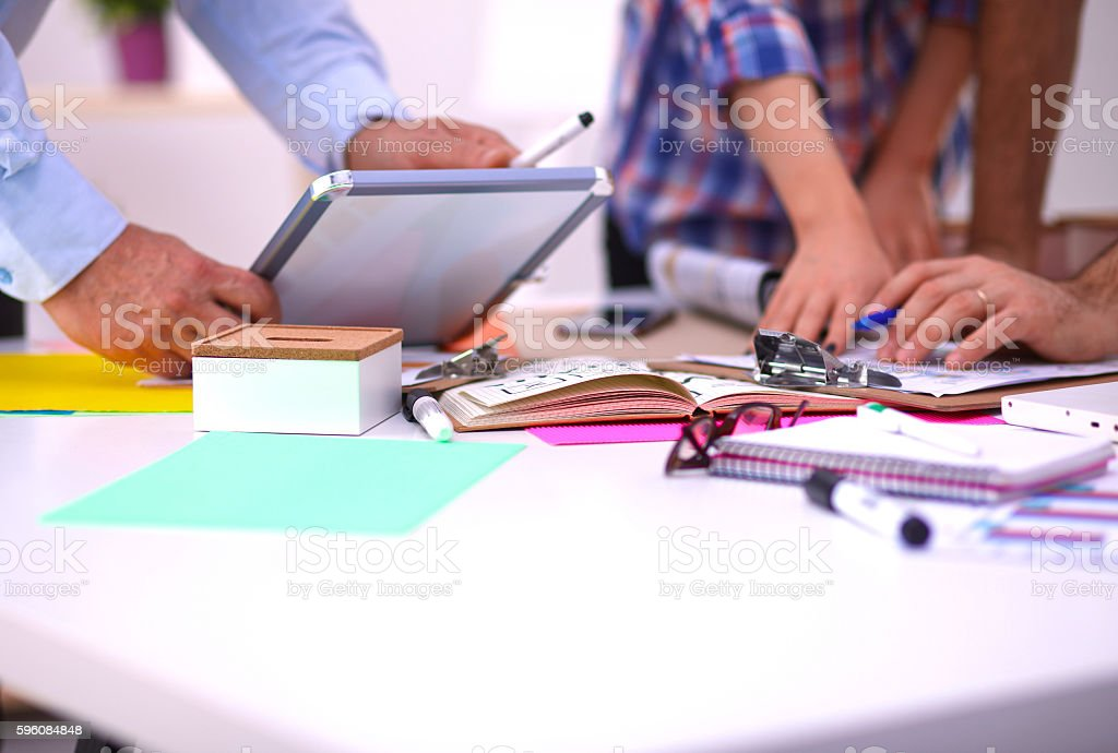 Business meeting at the office of the table royalty-free stock photo