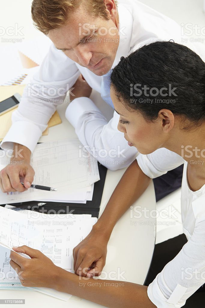 Business meeting at the office royalty-free stock photo