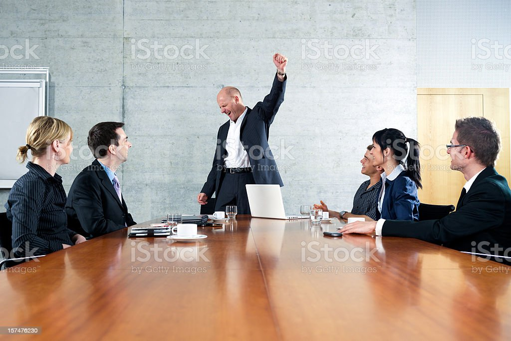 Business Meeting Cheering Manager royalty-free stock photo