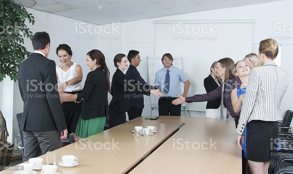 Business meeting conclusion royalty-free stock photo