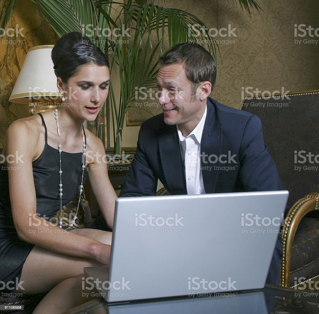 Business Meeting Couple royalty-free stock photo