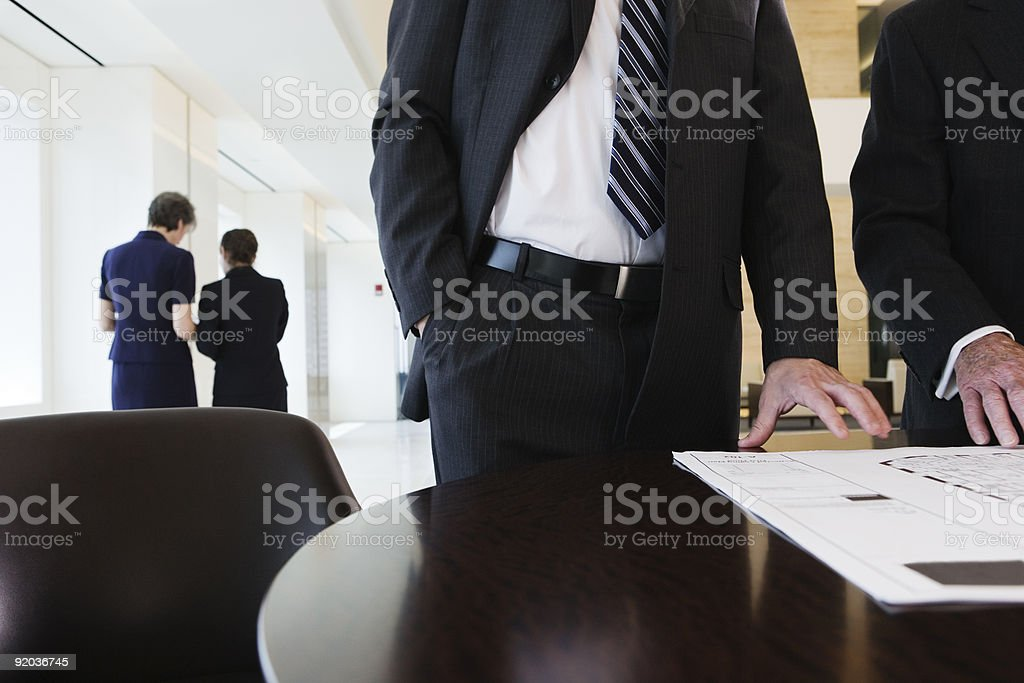 Business meeting discussing future corporate plans. royalty-free stock photo