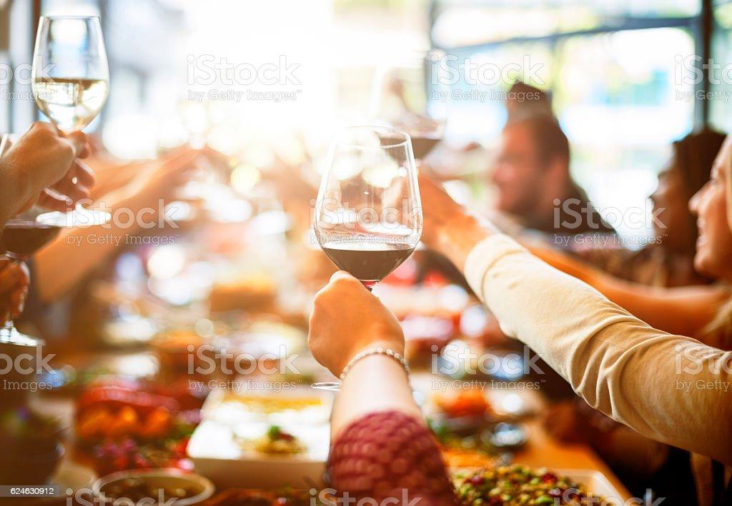 Réunion d'affaires à manger santé Concept de bonheur - Photo