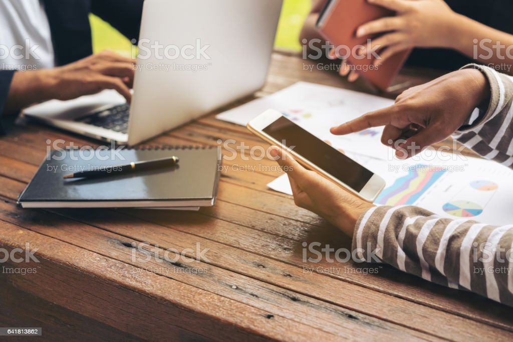 Business meeting group from top view stock photo