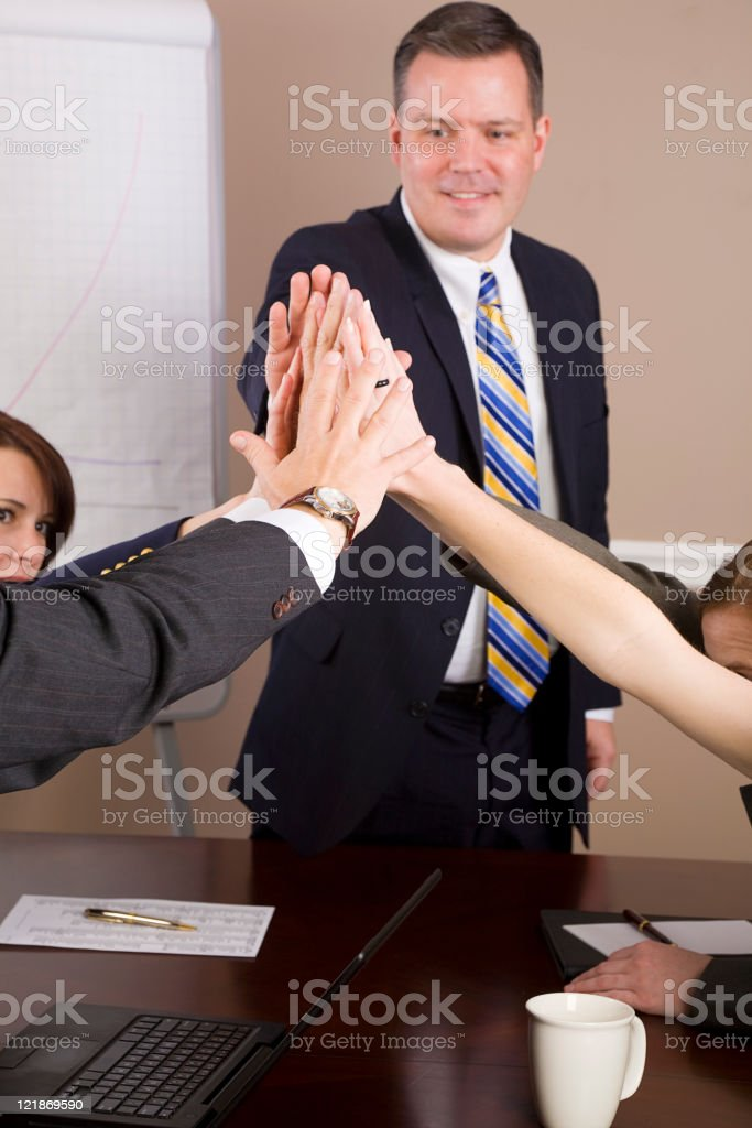 Business Meeting High Five royalty-free stock photo
