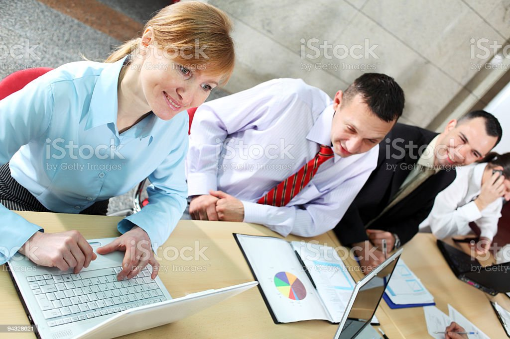 Business meeting in a modern office. royalty-free stock photo