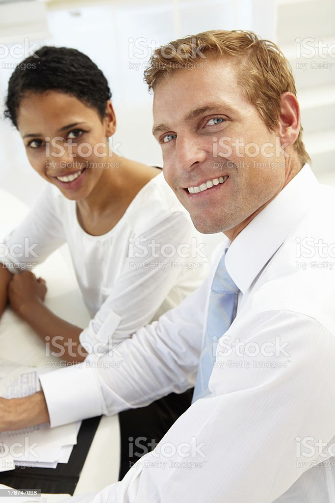 Business meeting in an office royalty-free stock photo