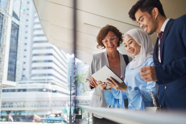 Business meeting in Kuala Lumpur. lifestyles in Kuala Lumpur. Business people in Malaysia. business Malaysia stock pictures, royalty-free photos & images