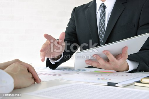 1217929357 istock photo Business meeting in office 1159540299