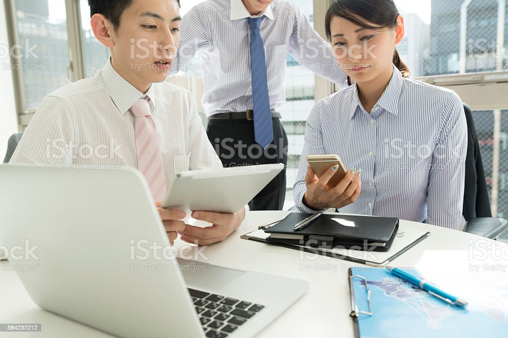 Business meeting in office. stock photo
