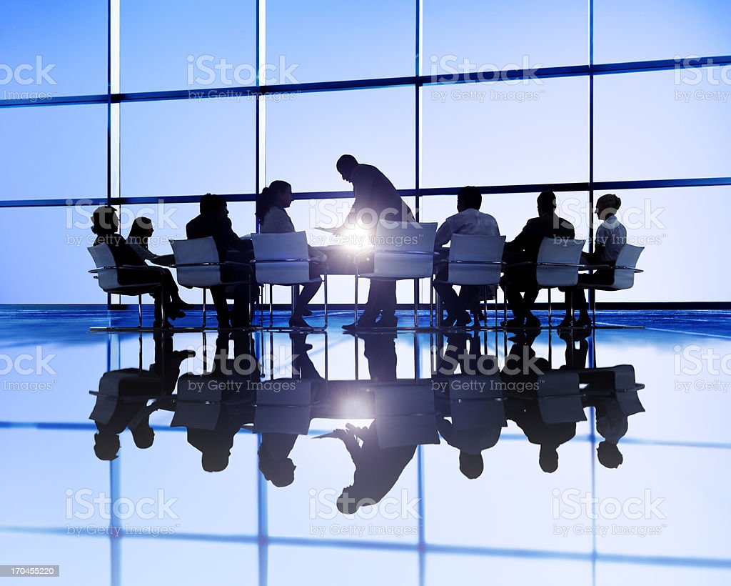 Business meeting in  office with large windows royalty-free stock photo