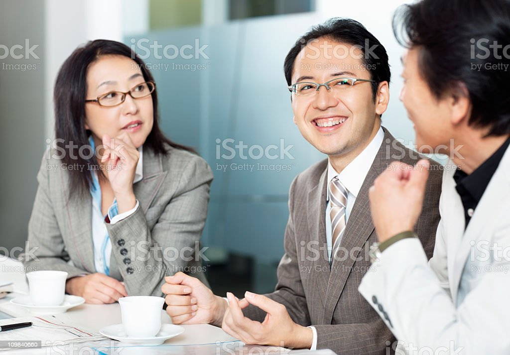 Business Meeting in the boardroom royalty-free stock photo