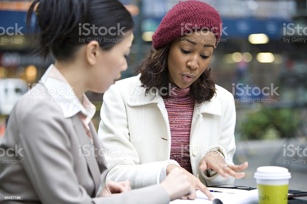 Business Meeting in the City royalty-free stock photo