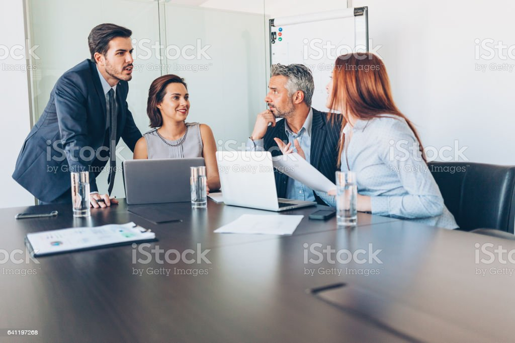 Business meeting in the conference room stock photo