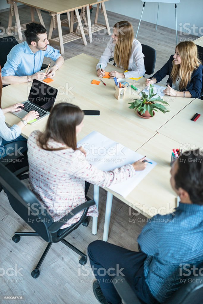 business meeting in the office stock photo