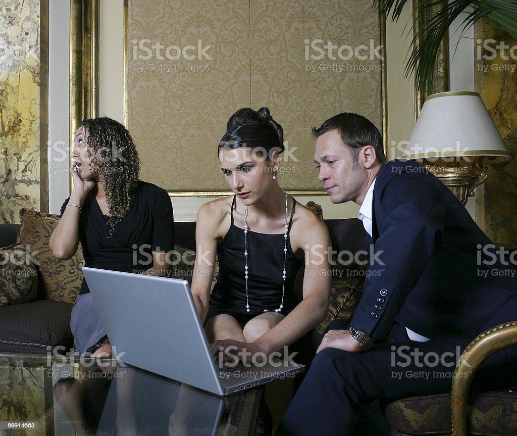 Reunião de negócios Interupted foto de stock royalty-free