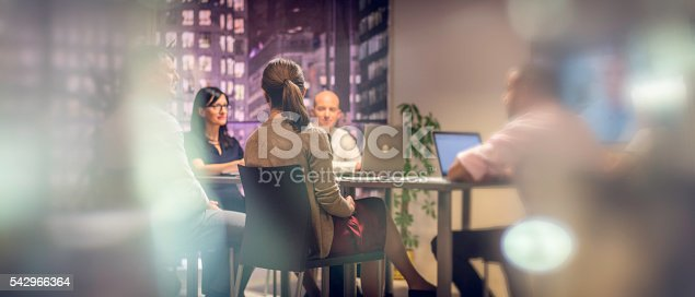 istock Business meeting late at night 542966364