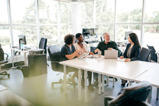 Business meeting of health care professionals stock photo