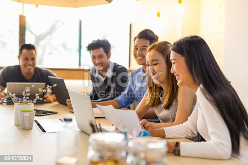 istock Business Meeting of Young Asian Start Up Entrepreneurs 694028804