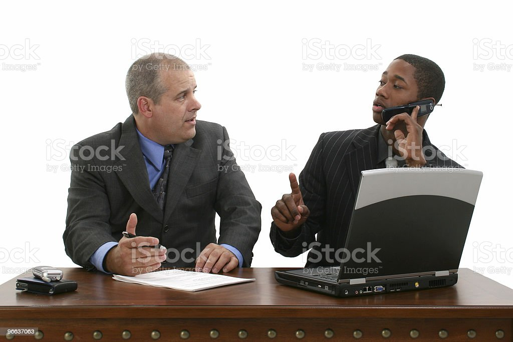 Business Meeting On Hold stock photo